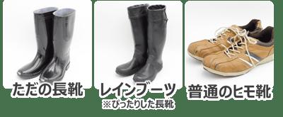 水害に適した靴